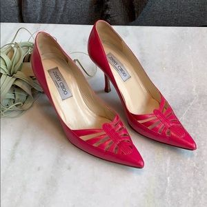Jimmy Choo Hot Pink Pointy Toe Pumps